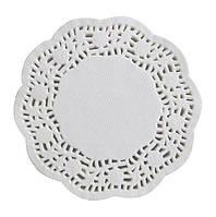 Салфетки бумажные круглые ажурные Ø 100 мм (уп 100 шт)