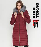 11 Kiro Tokao | Зимняя женская куртка 6615 бордовая, фото 1