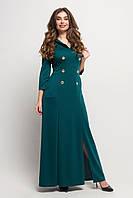 Трикотажное платье в пол Арчи 44-52 размера зеленое