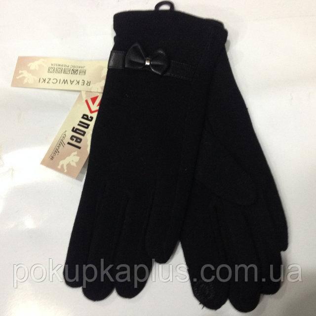 Стильные женские сенсорные перчатки черные