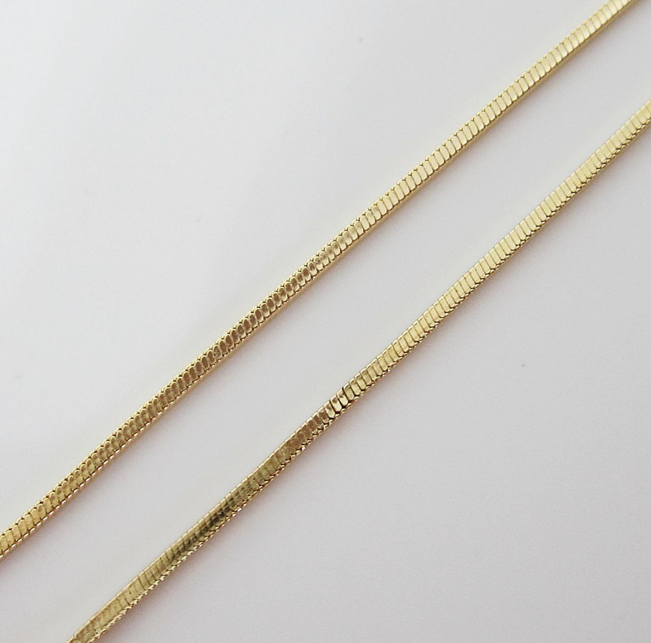 Цепочка плетение Ювелирный шнур 60 см. ширина 1.5 мм