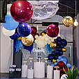 Воздушный шар bubble баблс хром серебро 22 дюйма 60 см, фото 7