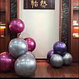 Воздушный шар bubble баблс хром серебро 22 дюйма 60 см, фото 6