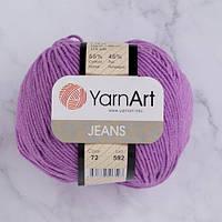 Хлопковая пряжа YarnArt Jeans 72 сиреневый (ЯрнАрт Джинс)