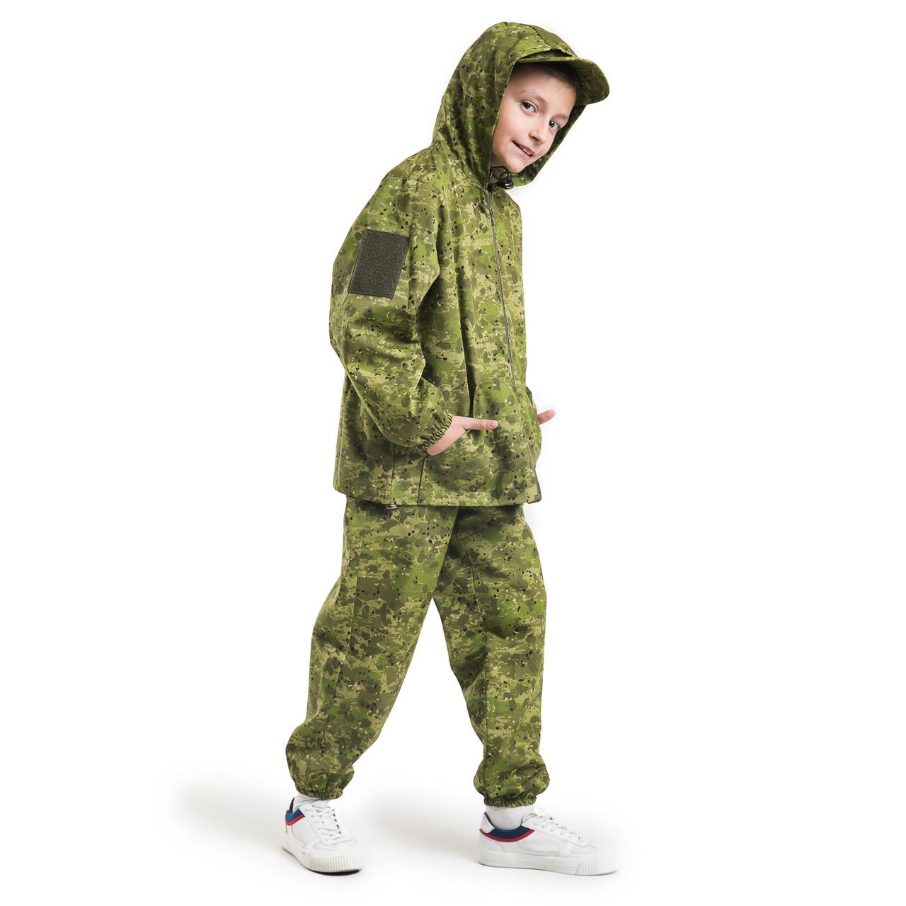 Детский костюм  для активного отдыха Лесоход  камуфляж Роса рост 116-122