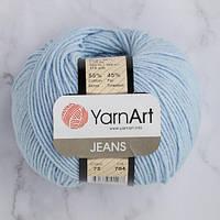 Хлопковая пряжа YarnArt Jeans 75 нежно-голубой (ЯрнАрт Джинс)