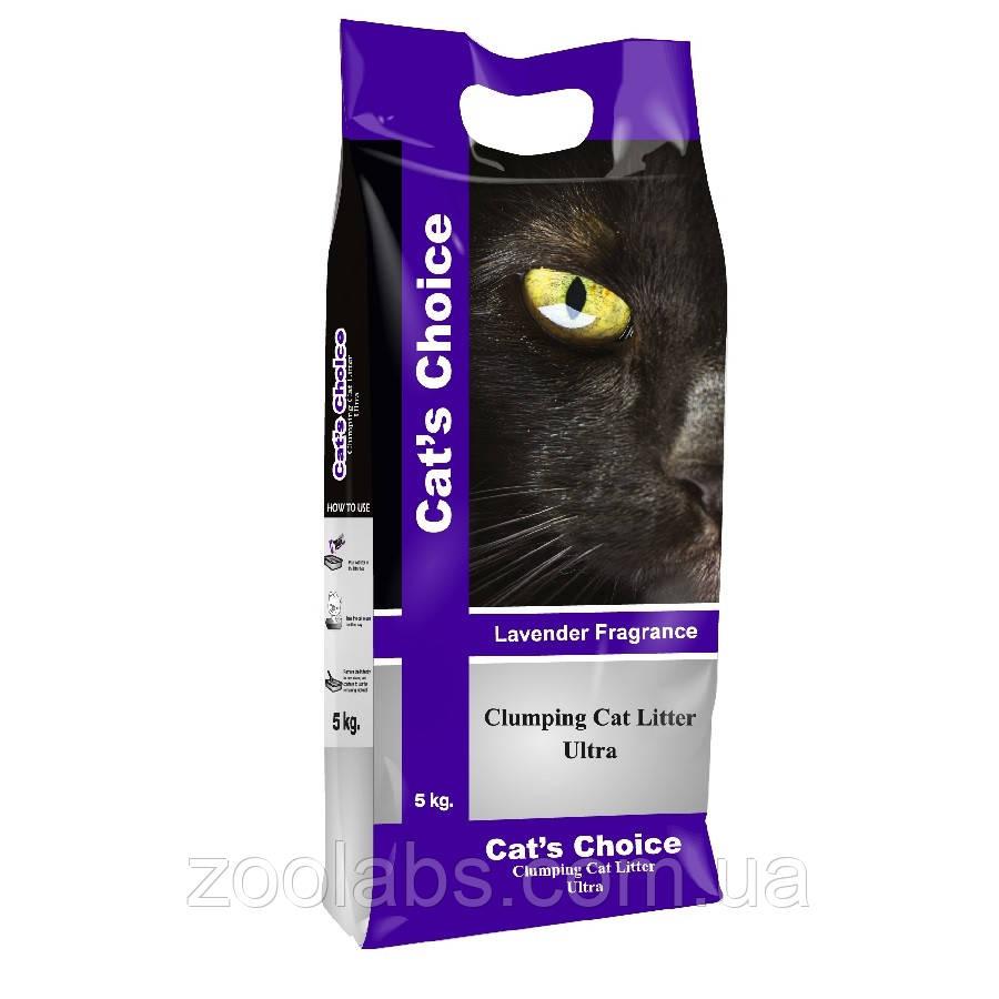 Наполнитель туалета для котов и кошек Indian Cat Litter Cat's Choice Lavender 5 кг (лаванда)