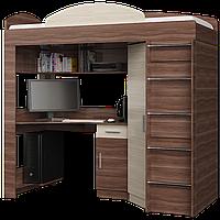 Кровать-чердак со столом и шкафом Эверест Ясень Шимо (Е-7)
