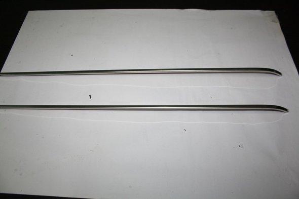 Молдинг под сдвижную дверь на рейку (2 шт, нерж) - Ford Connect 2002-2006 гг. / Ford Connect 2006-2009 гг.