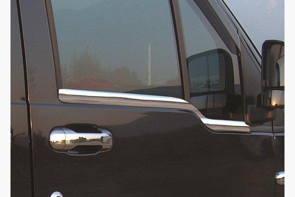 Наружняя окантовка стекол (2 шт, нерж.) - Ford Connect 2002-2006 гг. / Ford Connect 2006-2009 гг.