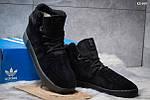 Зимние ботинки Adidas Tubular Invader Strap (черные) ЗИМА, фото 2