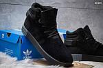 Зимние ботинки Adidas Tubular Invader Strap (черные) ЗИМА, фото 4