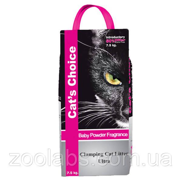 Наполнитель туалета для котов и кошек Indian Cat Litter Cat's Choice Baby Powde 5 кг (детская пудра)
