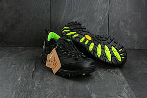 Мужские кроссовки Merrel Continivum черные с зеленым топ реплика, фото 3
