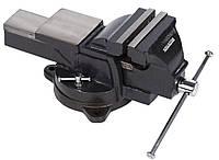 Тиски слесарные поворотные KREATOR 125 мм с наковальней KRT554012