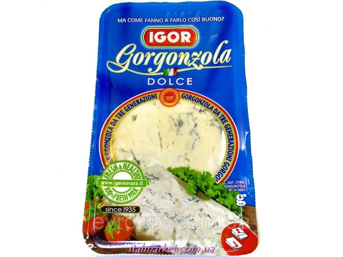 Сыр igor gorgonzola dolce горгонзола дольче мягкий с благородной голубой плесенью 43% 150г