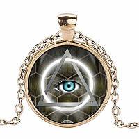 Кулон масонский с цветным глазом, фото 1