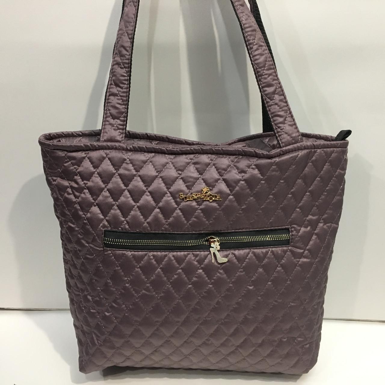 Стильная стеганая болоньевая сумка. Модная женская сумка. Удобная,  вместительная сумка оптом 290306badb2
