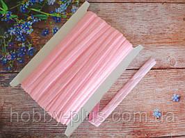 Бейка-резинка для повязок, цвет розовый (с блестками), 15 мм