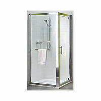 Боковая стена KOLO GEO 6 80 с релингом  , стекло прозрачное  REFLEX