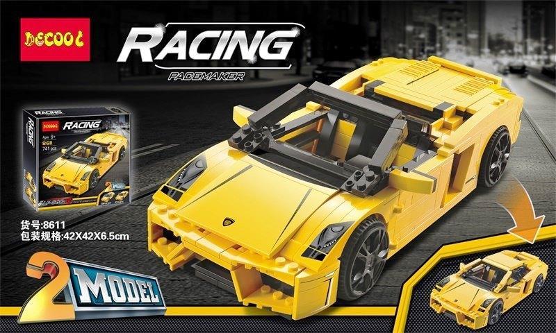 Конструктор Decool 8611 Racers Lamborghini Gallardo LP 560-4 741 деталей