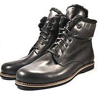 Зимние ботинки мужские кожаные Rosso Avangard Night POLY Whisper Black черные, фото 1