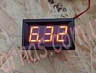 Вольтметр 27014R цифровой 4,5-30V встраиваемый (два провода) Красный
