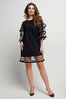 Праздничное платье Герби с сеткой 44-52 размера черное, фото 1