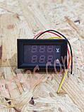Вольтметр-Амперметр 27019 цифровой 100V/10A встраиваемый, фото 2