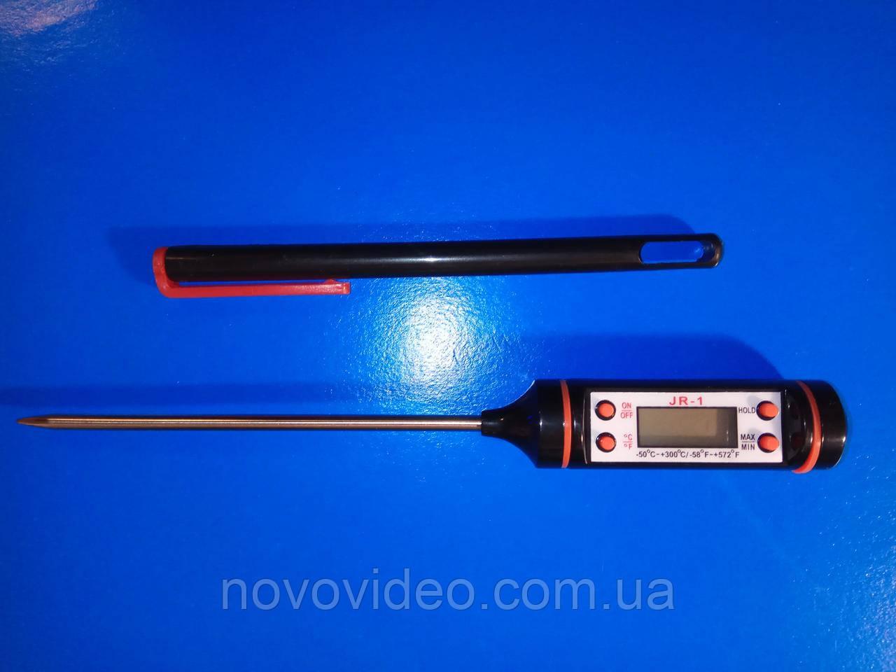 Термометр JR-1 с нержавеющим датчиком для пищи, почвы, жидкости