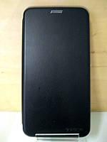 Чехол книжка под кожу черный Honor 7X (BND-L21)