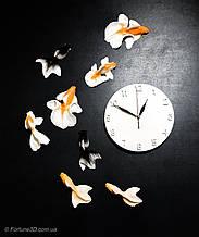Настенные креативные часы с рыбками