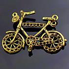 Кулон-Сеттинг Велосипед под Стразы, Металл, Цвет: Античное Золото, Размер: 39х24х4мм, Отверстие 2мм, Пригоден под Стразы 1мм. (БА000000838)