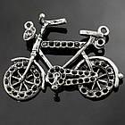 Кулон-Сеттинг Велосипед под Стразы, Металл, Цвет: Античное Серебро, Размер: 39х24х4мм, Отверстие 2мм, Пригоден под Стразы 1мм. (БА000000848)
