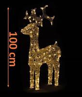 Акриловый олень с источником питания 120 светодиодов