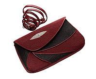 Клатч Ekzotic Leather Красно-черный (sb10)