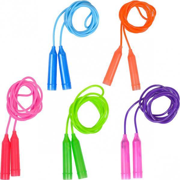 Скакалка цветная пластиковая длина 2,45 м D4 мм   2417-2