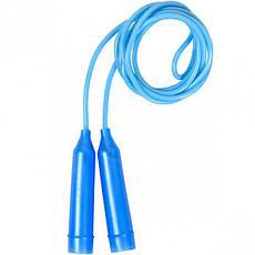 Скакалка цветная пластиковая длина 2,45 м D4 мм   2417-2, фото 2