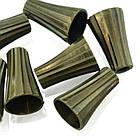 Конус Латунный для Бусин, Цвет: Бронза, Размер: 11.5х8мм, диаметр внутри 6мм, Отверстие 2мм, (УТ000005922)