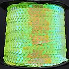 Лента с пайетками, АВ цвет, Цвет: Зеленый, Ширина 6мм, около 90м/катушка, (УТ000005976)