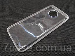 Чехол для Motorola Moto G6 Plus силиконовый прозрачный с матовым ободком