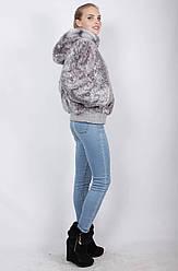 Шуба, колір: Блакитний леопард № 45