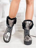 Зимние ботинки на толстой подошве, фото 1