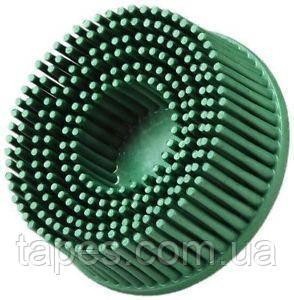Зачистной круг Bristle с креплением Roloc, зеленый, градация - грубый, диск-щётка 50. 3М