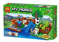 "Конструктор Lele 33184 Minecraft / Майнкрафт (аналог Lego) ""Ферма с водопадом"""