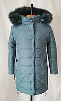 Зимние пальто для девочек от производителя   32-40 Джинс, фото 1