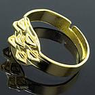 Основа для кольца Металлическая, с 7 Петельками, Цвет: Золото, Размер: Внутренний диаметр 17.5мм, (УТ0002279)