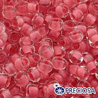 Бисер 38397 Чешский Preciosa 10/0, Прозрачный Окраска из Середины CTC, Розовый, Круглый, (УТ0002474)