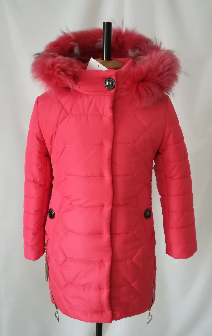 куртки зимние для девочки подростка интернет магазин 32 40 коралл