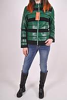 Курточка осенняя из качественного кожзама 46-48 зеленая